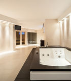 Interiors, bathroom with jacuzzi Stock Photos
