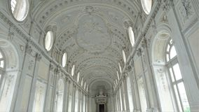 Interiors of the beautiful palace of Venaria Reale near Turin royalty free stock photo