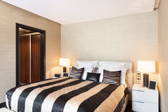 Interiors, bedroom Royalty Free Stock Photography