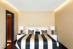 Interiors, bedroom Stock Image