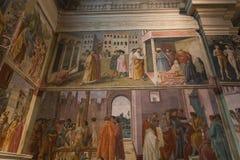 Interiors of Brancacci chapel, Florence, Italy Stock Photo
