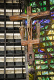 Interiors of cathedral of Rio De Janeiro (San Sebastian) Royalty Free Stock Image