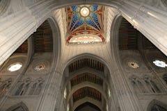 Interiors of the Cathedral of Santa Maria la Real de la Almudena, Madrid, Spain Stock Photography