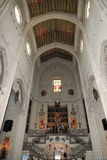 Interiors of the Cathedral of Santa Maria la Real de la Almudena, Madrid, Spain Royalty Free Stock Image