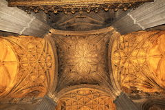 Interiors of the Cathedral in Seville, Spain Stock Photography