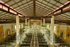 Interiors of catholic church in Guayaquil Stock Image