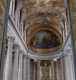 Interiors of the chapel at Château de Versailles, France Royalty Free Stock Photo