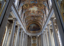 Interiors of the chapel at Château de Versailles, France Stock Photography