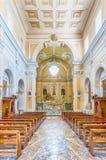 Interiors of the Church of San Francesco, Massa Lubrense, Italy. Interiors of the Church of San Francesco di Paola in the town of Massa Lubrense, Italy Royalty Free Stock Images