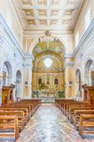 Interiors of the Church of San Francesco, Massa Lubrense, Italy. MASSA LUBRENSE, ITALY - JULY 16: Interiors of the Church of San Francesco di Paola, Massa Royalty Free Stock Photography
