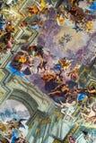Interiors of Church of St. Ignatius of Loyola in Rome Stock Images