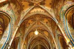 Interiors of the Church of St. Peter and Paul at Vyšehrad, Prague, Czech Republic stock photo