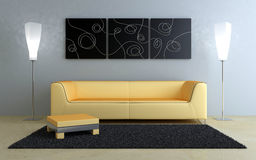 Interiors design - Black and peach Royalty Free Stock Images