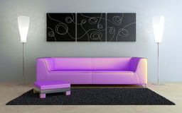 Interiors design - Black and Pink Royalty Free Stock Images