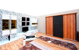 Interiors design stands and home architecture Stock Photography