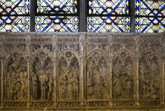 Interiors and details of basilica of saint-denis,  France Stock Image