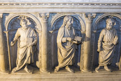 Interiors and details of basilica of saint-denis,  France Royalty Free Stock Photography