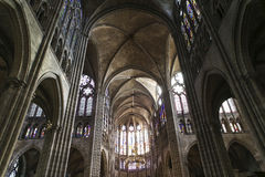 Interiors and details of basilica of saint-denis,  France Royalty Free Stock Images