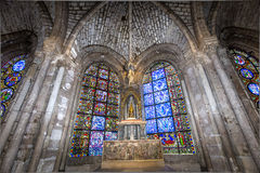 Interiors and details of basilica of saint-denis,  France Royalty Free Stock Photo