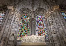 Interiors and details of basilica of saint-denis,  France Stock Photos