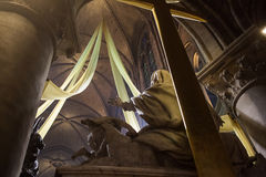 Interiors and details of Notre dame de Paris Stock Photo