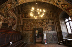 Interiors and details of Palazzo Pubblico, Siena, Italy Stock Photo
