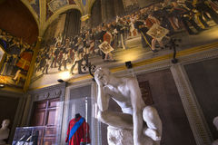 Interiors and details of Palazzo Pubblico, Siena, Italy Royalty Free Stock Photography