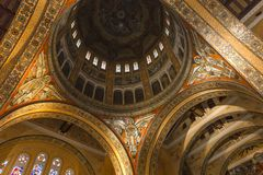 Interiors and details of Sainte-Therese basilica, Lisieux, France Royalty Free Stock Image