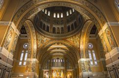 Interiors and details of Sainte-Therese basilica, Lisieux, France Stock Photo