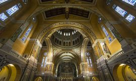 Interiors and details of Sainte-Therese basilica, Lisieux, France Stock Images