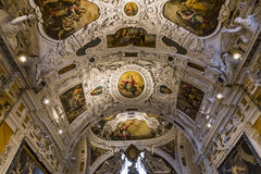 Interiors and details of Siena cathedral, Siena, Italy Stock Photography