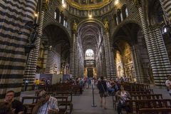 Interiors and details of Siena cathedral, Siena, Italy Royalty Free Stock Image
