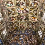 Interiors and details of the Sistine Chapel, Vatican city Stock Photography