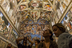 Interiors and details of the Sistine Chapel, Vatican city Royalty Free Stock Photography