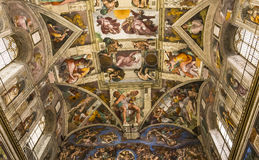 Interiors and details of the Sistine Chapel, Vatican city Stock Images