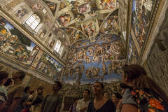 Interiors and details of the Sistine Chapel, Vatican city Royalty Free Stock Photo