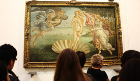 Interiors and details of The Uffizi, Florence, Italy Stock Photos