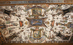 Interiors and details of The Uffizi, Florence, Italy Royalty Free Stock Photos