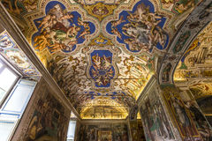 Interiors and details of the Vatican museum, Vatican city Royalty Free Stock Images
