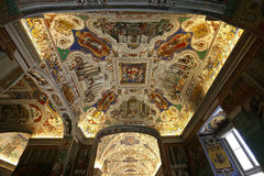 Interiors and details of the Vatican museum, Vatican city Stock Photos