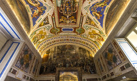 Interiors and details of the Vatican museum, Vatican city Stock Photo