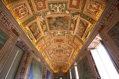 Interiors and details of the Vatican museum, Vatican city Stock Images