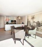 Interiors, elegant dining room stock images