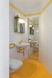 Interiors of empty apartment, bathroom. Architecture, Interiors of empty apartment, bathroom Stock Image