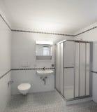 Interiors of empty apartment, bathroom. Architecture, Interiors of empty apartment, bathroom view Royalty Free Stock Photo