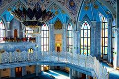 Interiors of famous Qol Sharif Mosque in Kazan, Russia Stock Photos