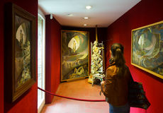 Interiors with famous works of artist in The Dali Museum Stock Photography