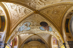 Interiors and frescoes of  Wallenstein Palace currently the home of the Czech Senate Royalty Free Stock Image