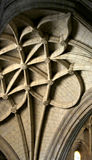 Interiors of a gothic cathedral, detail of the ceiling Royalty Free Stock Photo