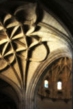 Interiors of a gothic cathedral Royalty Free Stock Photo